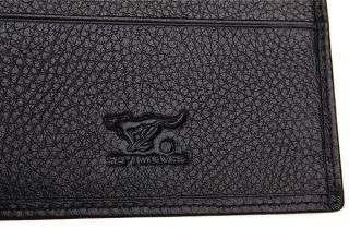 New Cool Mens Wallet Leather Black Wolf Totem Purse