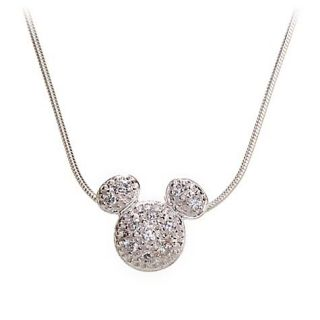 SWAROVSKI Crystal MICKEY MOUSE Large Charm Necklace Chain Pendant NEW