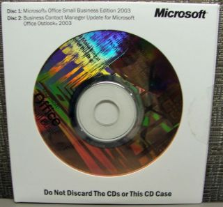 Microsoft Office 2003 SBE Small Business Edition Full Version Brand