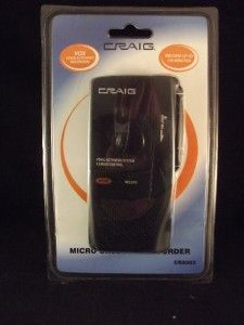 Craig Micro Cassette Recorder 120 Minutes Vox Voice Activated