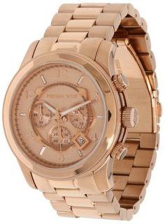 Brand New Michael Kors Rose Gold Stainless Steel Bracelet Mens Watch