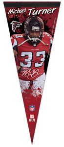 Michael Turner SIGNATURE SERIES Atlanta Falcons NFL Premium Felt
