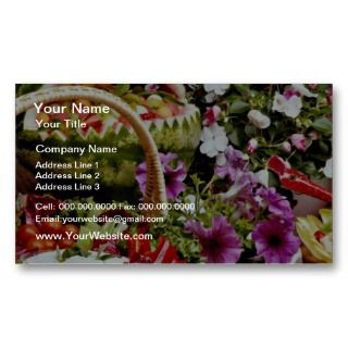 fruit basket with flowers flowers business cards