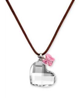 Swarovski Necklace, Pink Crystal Heart Pendant   Fashion Jewelry