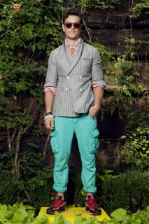Michael Bastian for Gant Red White Block Stripe Shirt New for SS12