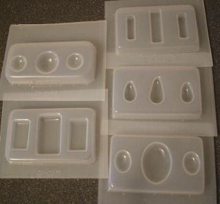 Mold Set 5 Molds Moulds Resin Jewelry Making Metal Clay Crafts