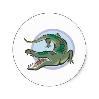 Crocodile/Alligator Circle Design Stickers
