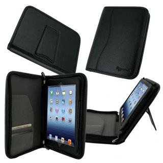 Executive Portfolio Genuine Leather Case Cover for iPad Mini   Black