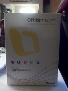 Microsoft Office Mac 2008 Full Version New in Box