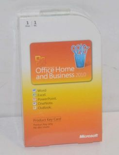 Microsoft Office Home and Business 2010 Product Key Card 1 PC