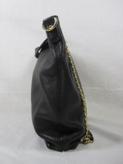 Michael Kors 30H01TCM2L Jet Set Medium Chain Leather Tote Black $198