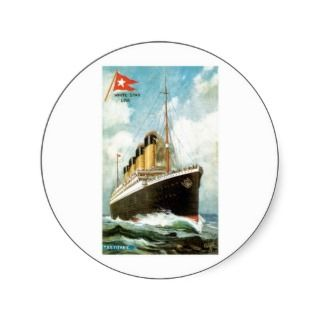 RMS TSS Titanic Passenger Ship Sticker