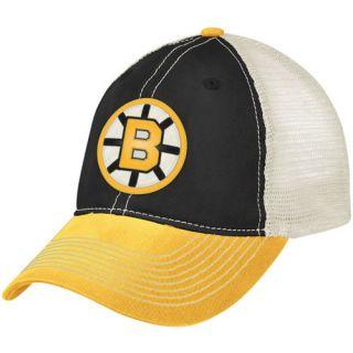 CCM Boston Bruins Black Gold Vintage Mesh Flex Fit Hat L XL