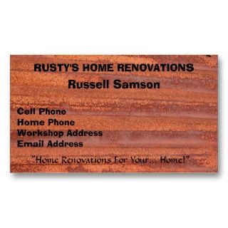 RUSTY CORRUGATED IRON Business Card