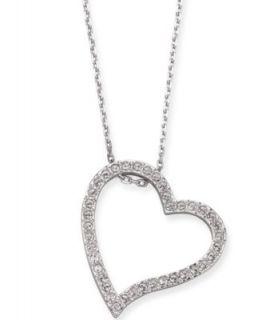 Swarovski Necklace, Crystal Pave Heart Locket Pendant