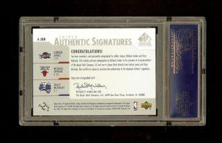 03 04 Lebron James Michael Jordan tmac SP Authentic Auto RC PSA 10 Gem