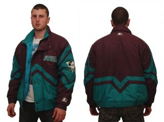 Anaheim Mighty Ducks Jacket Starter Vintage Original L