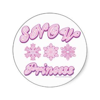 Snow princess on Dark Stickers