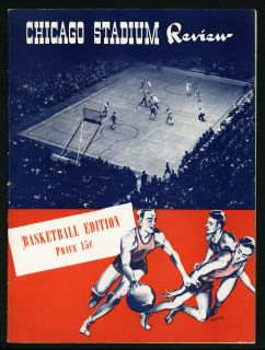 1942 First NCAA College Program Ray Meyer George Mikan