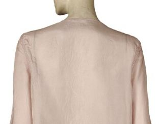 New $298 Day Birger Et Mikkelsen Embroidered Pink Silk Tunic Top s