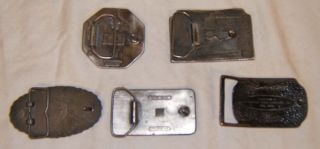 Vintage Belt Buckle Honda Yamaha Remington Petersen Hunting Lot