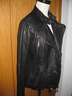 Michael Kors Black Skinny Leather Biker Moto Jacket