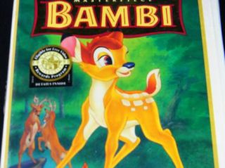 Bambi (VHS, Limited Anniversary Edition, Restored) Disney New Factory
