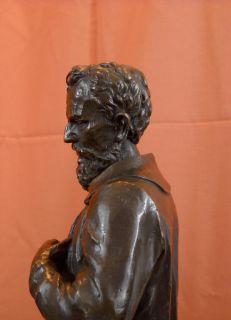 Original Michelangelo Buonarroti Uffizi Bronze Statue Sculpture
