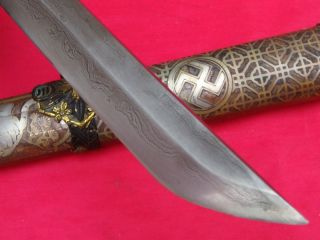 Handmade Japanese Antiques Military Katana Sword Signed