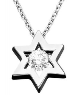 Effy Collection Diamond Necklace, 14k White Gold Diamond Star Of David