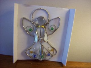 Christmas Stained Glass Night Light Angel