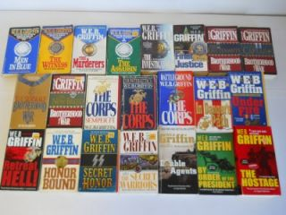 Lot of 22 w E B Griffin Fiction Military Paperback Books Corps