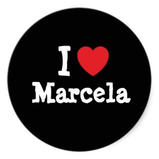 love Marcela heart T Shirt Sticker