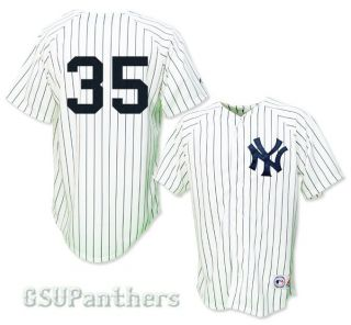 Mike Mussina New York Yankees Home Replica Sewn Jersey Mens Sz M 2XL