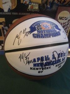 5X Signed National Championship Team University Kentucky Wildcats