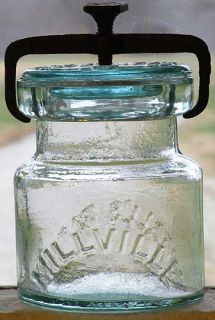 Millville Atmospheric Cut Down Mold Half Pint Fruit Jar