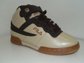 Fila F 13 Milano Coffee Brown Tan Synth Shoe Sz 6 5 10