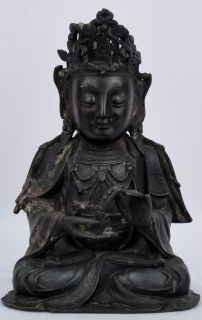 Antique Chinese Ming Dynasty Beautiful Seated Bodhisattva Buddha