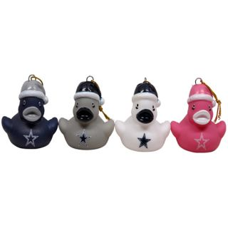 Dallas Cowboys 4 Pack Mini Duck Ornament Set