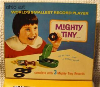 Mighty Tiny Ohio Art Worlds Smallest Record Player 60s