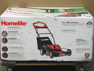 homelite 20 12 amp corded electric lawn mower ut13124 click small