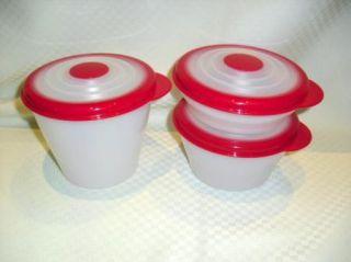 STUFFABLES Flex Seal Mini Refrigerator 1, 2 + 3 cup Bowl Set NEW Red