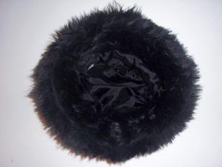 Rosetta Millington Little Girl Faux Fur Holiday Dress Hat w Red Roses
