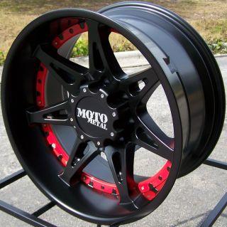 20x9 Black Moto Metal 961 Wheels Rims 2007 Up Toyota Tundra Sequoia