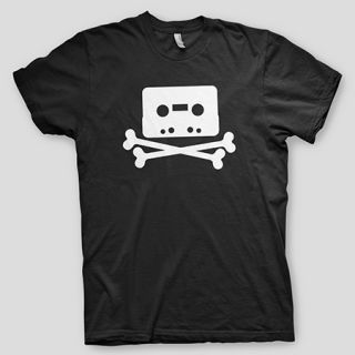 Pirate Bay Crossbones mininova Torrent Demonoid napster Nerd T Shirt