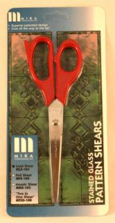 Mika Lead Pattern Shears Scissors for Stained Glass