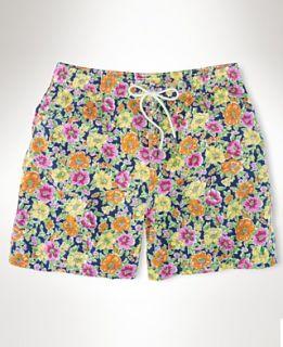 Polo Ralph Lauren Big & Tall Shorts, Floral Hawaiian Boxer Length Swim
