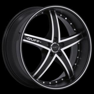 x8 Ruff Racing R953 Black Mach 5x105 w 38 Et R953HK5A38N73 Rims