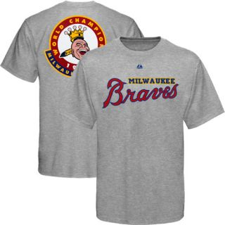 Majestic Milwaukee Braves Cooperstown Classic 1957 Champions T Shirt