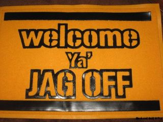 Door Mats Floor Mats Black Gold Welcome Ya Jagoff Welcome Mat